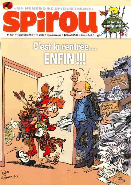 Spirou - Hebdo 2013 (76e année) 3934 Numéro 3934