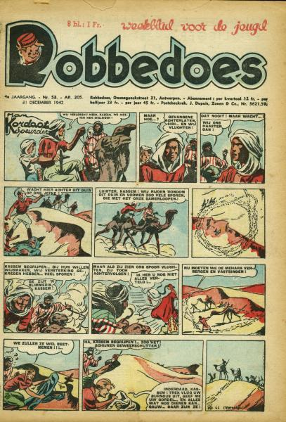 Robbedoes - Weekblad 1942 (jaargang 4) 205 Jaargang 4 - Nummer 205