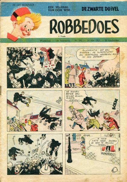 Robbedoes - Weekblad 1951 (jaargang 13) 582 Nummer 582