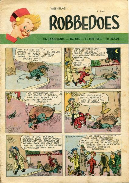 Robbedoes - Weekblad 1951 (jaargang 13) 583 Nummer 583