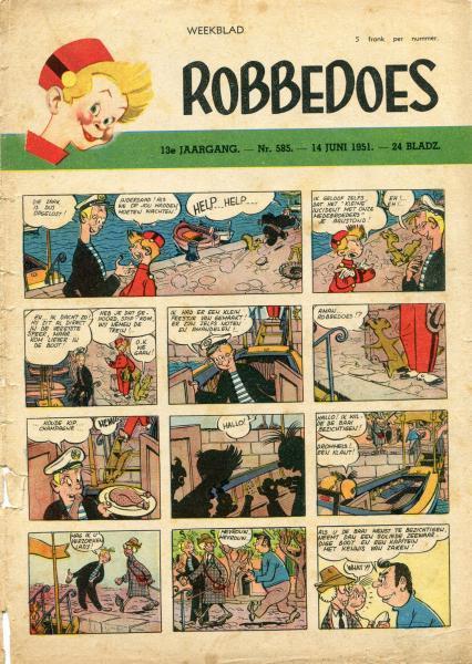 Robbedoes - Weekblad 1951 (jaargang 13) 585 Nummer 585