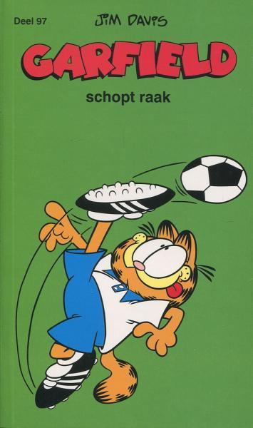 Garfield (Loeb/Gekleurd) A97 Garfield schopt raak