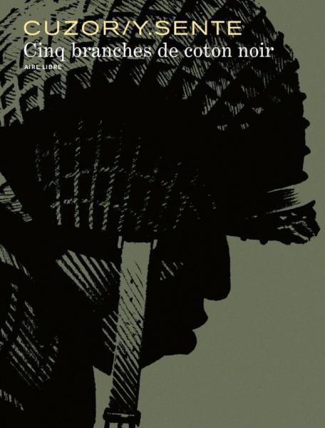 Een ster van zwart katoen 1 Cinq branches de coton noir