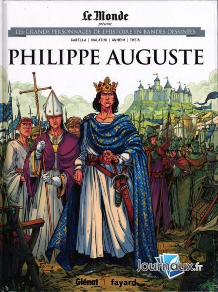 Les grands personnages de l'histoire en bandes dessinées 32 Philippe Auguste