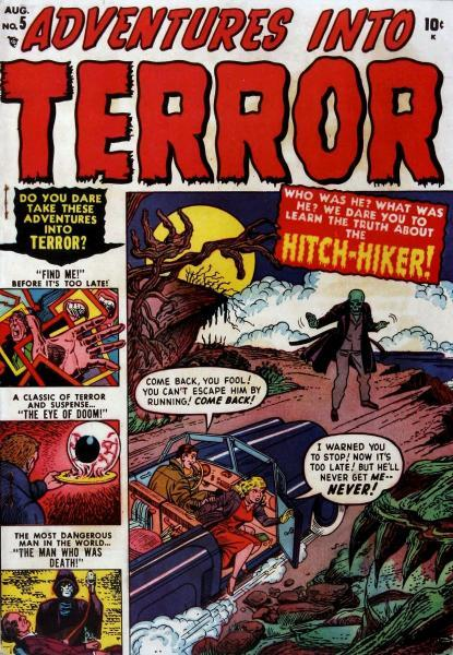 Adventures into Terror (Atlas/Current Detective Stories) 5 The Hitch-Hiker!