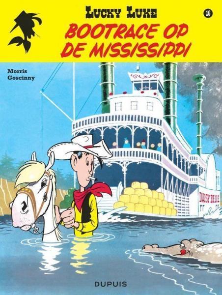 Lucky Luke (Nieuw uiterlijk - Dupuis/Lucky Comics) 16 Bootrace op de Mississippi