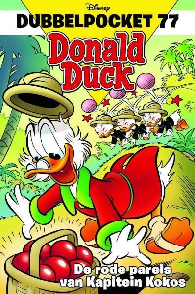 Donald Duck dubbel pocket 77 De rode parels van kapitein Kokos
