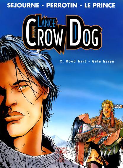 Lance Crow Dog 2 Rood hart - gele haren