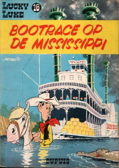 Lucky Luke (Dupuis) 16 Bootrace op de Mississippi
