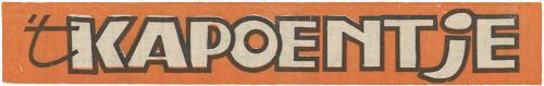 Kapoentje - 1978, 't